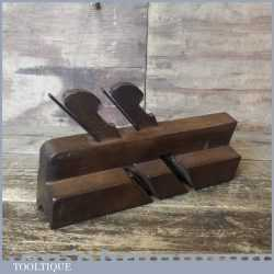Scarce Antique Alex Currie Glasgow 1833-44 Twin Ironed Beech Moulding Plane