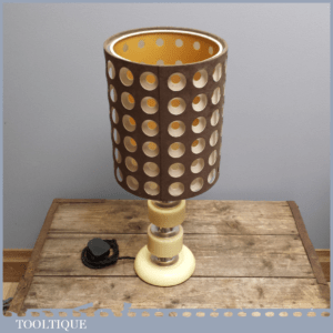 Stylish Vintage Retro 70's Plastic Stack Lamp and Shade