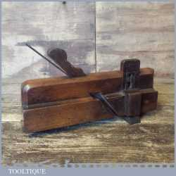 Unusual Antique Tongue Making Beech Moulding Plane - Good Condition