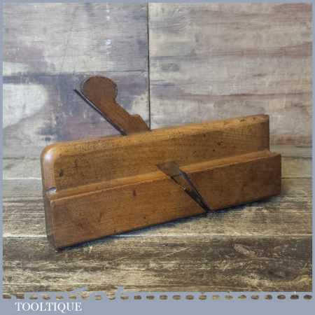 """Antique Brown & Barnard 5/8"""" Astragal Quirk Ovolo Beech Moulding Plane"""