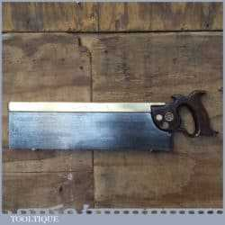"Rare Vintage W Tyzack & Turner 16"" Brass Back Tenon Saw 8 TPI - Sharpened"