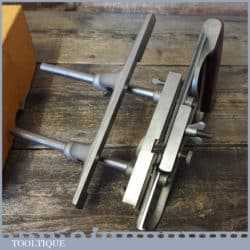 Vintage Boxed Stanley No: 50s Combination Plough Plane 8 Cutters - Fully Refurbished