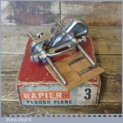 Vintage Boxed Rapier No: 3 Plough Plane 3 Cutters - Good Condition