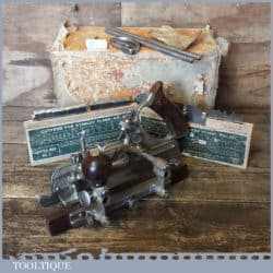 Vintage Boxed Stanley Sweetheart USA No: 45 Combination Plough Plane