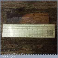 Scarce Antique Imperial 6″ Gunter's Scale Ruler - Good Condition