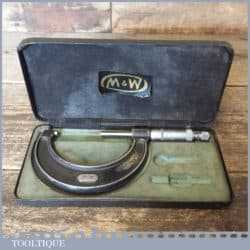 "Vintage Moore & Wright No: 966 Imperial 2-3"" Micrometer"