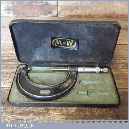 """Vintage Moore & Wright No: 966 Imperial 2-3"""" Micrometer"""