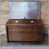 "Vintage 4 Draw Engineer's 16"" x 10"" Dovetailed Mahogany Tool Chest"