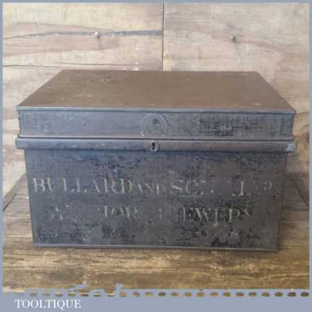 Rare Antique Bullard & Sons Brewery Norwich Metal Document Box Decorative