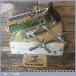 Vintage Boxed Stanley No: 50 Combination Plough Plane 17 Cutters - Fully Refurbished