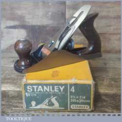 Vintage Boxed Stanley No: 4 Smoothing Plane - Fully Refurbished Ready To Use