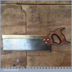 "Vintage Sheffield Made 12"" Brass Back Tenon Saw - Sharpened"