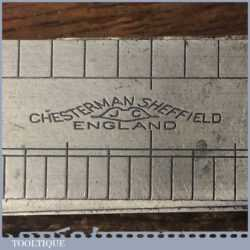 Vintage Chesterman No 310D/2 engineer's imperial feeler gauge and rule in good used condition.