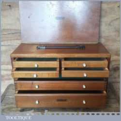 "Vintage Union 7 Draw 21"" x 14"" Engineer's Dovetailed Beechwood Tool Chest"