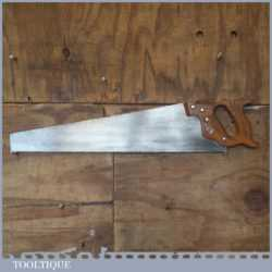 "Vintage Henry Disston USA 24"" Cross Cut Panel Handsaw 9 TPI - Sharpened"