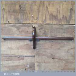 """Vintage cabinet makers 18"""" mahogany panel marking gauge in good used condition."""