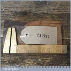 Vintage Rabone No: 1465 Imperial Boxwood Brass Caliper Ruler - Good Condition