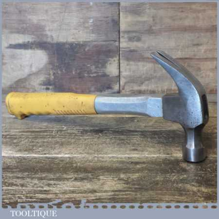 Vintage Carpenters 1 lb 9 oz Cast Steel Claw Hammer - Good Condition