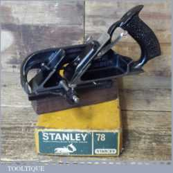 Vintage Boxed Stanley No: 78 Duplex Rabbet Plane - Fully Refurbished