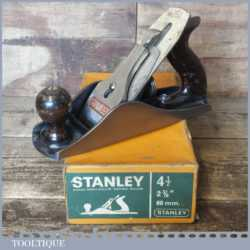 Vintage Boxed Stanley No: 4 ½ Wide Bodied Smoothing Plane - Refurbished