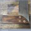 """Vintage Carpenters Rosewood Brass 6"""" Mitre Try Square - Good Condition"""