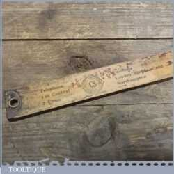 Vintage Yard Stick Ruler With Advertising Cook, Son & Co