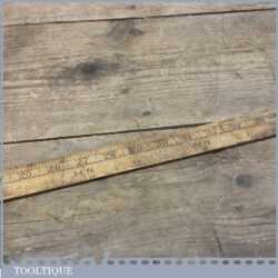 Vintage Yardstick Non Folding Ruler Inch and 1/8 of a Yard Measurements