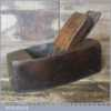 Vintage Steel Soled Beech Smoothing Block Plane - Good Condition