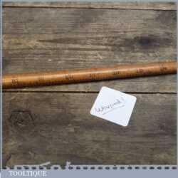 Early unmarked Antique Drapers Boxwood & Brass Yardstick Ruler