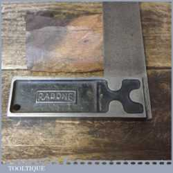 """Vintage Rabone Carpenters 6"""" Cast Steel Calibrated Try Square"""