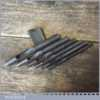 Vintage Set Of 6 No: Leatherworking Round Punches - Good Condition