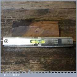 "Vintage Rabone No: 1393 Engineering Machinists 4"" Metal Spirit Level"
