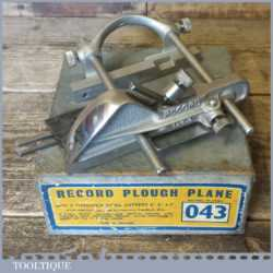 Vintage Boxed Record No: 043 Plough Plane With 3 Cutters - Fully Refurbished