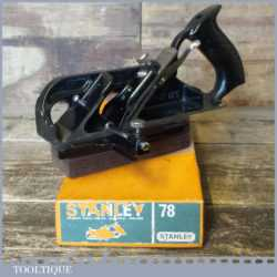 Vintage boxed Stanley No: 78 duplex rabbet plane, fully refurbished ready to use and in little used condition.