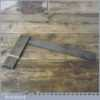 """Vintage Moore & Wright No: 402 Engineer's 12"""" Precision Steel Set Square"""