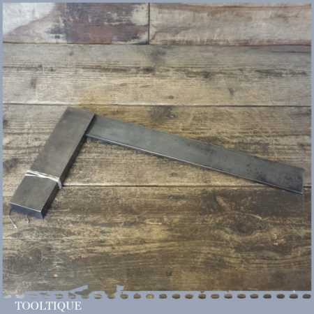 "Vintage Moore & Wright No: 402 Engineer's 12"" Precision Steel Set Square"