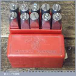 Vintage Set Priority 09 Or 6 mm Number Punches Stamps Original Box