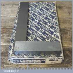 """Vintage Boxed Moore & Wright No: 400 9"""" Engineers Square - Good Condition"""