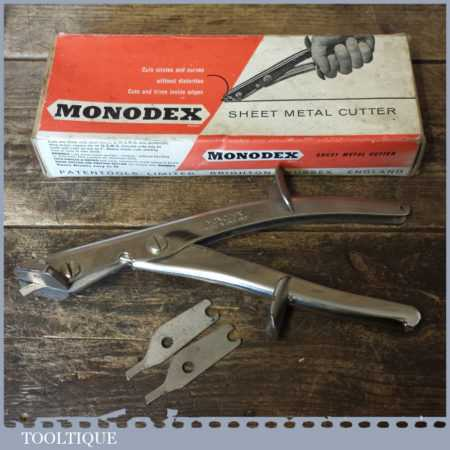 Vintage Boxed Monodex Sheet Metal Cutter - Good Condition