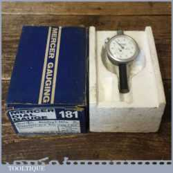 Vintage Boxed Mercer Engineer's Dial Gauge Type 181 - Little Used