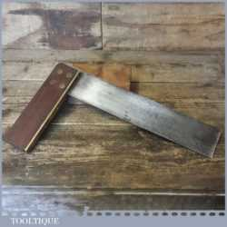 """Vintage Marples Carpenters 12"""" Rosewood Brass Try Square - Good Condition"""