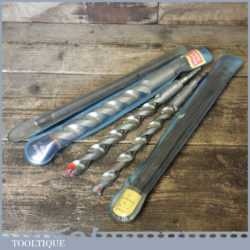 Vintage Set 3 Masonry Bits 19mm – 22mm With 2 Extensions