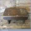 Antique Handmade Rustic Child's Pitch Pine Stool - Good Condition