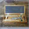 Vintage Boxed Mitutoyo 129 – 126 Depth Micrometer - Good Condition