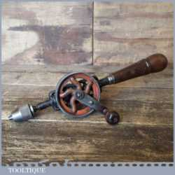 Antique Egg Beater Double Pinion Hand Drill - Good Condition