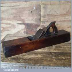 """Antique Griffiths Norwich 22"""" Beechwood Trying Plane - Lapped Flat"""