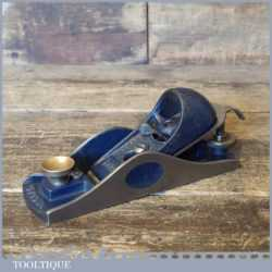 Vintage Record No: 09 ½ Adjustable Throat Block Plane - Fully Refurbished