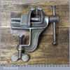 """Vintage Portable Vice With 1 ½"""" Jaws - Good Condition"""