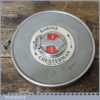 Vintage Rabone Chesterman No: 70W Metal Imperial Tape Measure - Good Condition