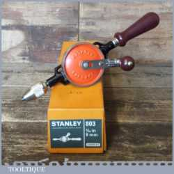 Near Mint Vintage Boxed Stanley No: 803 Egg Beater Double Pinion Hand Drill